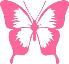 "Butterfly Decal Sticker Car Truck Window- 6"" Wide White Color"
