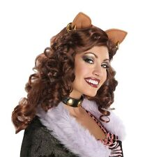 Perruque robe fantaisie ~ Mesdames adulte Disney Monster High Clawdeen Loup Perruque