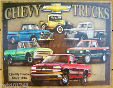 Chevy Tribute TIN SIGN antique vtg pickup chevrolet metal garage wall decor 1747