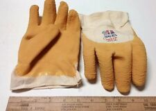 """1 PR.(62 PNFW) Best Mfg.- """"Nitty Gritty"""" Coated Rubber Crinkle Gloves- Large USA"""