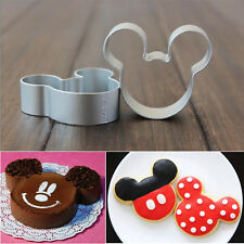 Mickey Shaped Cookie Dessert Cake Decorating Metal Cutter Pastry Baking Mould