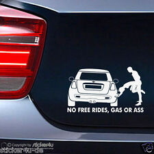 (409) Fun Sticker Aufkleber Decal / No Free rides Mini Cooper  Stickerbomb R56