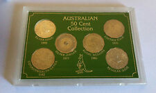 1966 TO 1983 UNC 50c AUSTRALIAN COMMEMORATIVE 6 COIN COLLECTION SET