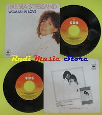 LP 45 7'BARBRA STREISAND Woman in love Run wild 1980 italy CBS 89066 * cd mc dvd