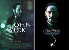 "John Wick (2014) Original Movie Poster Set of 2 / Size 13""x19"" *** Keanu Reeves."