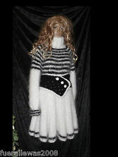 handgestrickt Pullover Strickkleid Tunika Mohair L / XL hand knitted mini dress