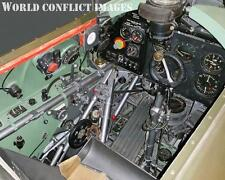 RAF WW2 Hawker Hurricaine Fighter Cockpit #1 8x10 Color Photo WWII