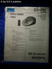 Sony Service Manual DVP PQ1 CD/DVD Player (#6681)
