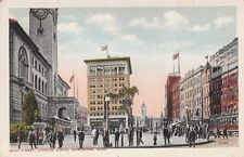 Antique POSTCARD c1910s Main Street Looking North WORCESTER, MA Unused 13120