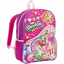 Shopkins Backpack School Book Bag School Tote New 16 inches 2016 Fashion
