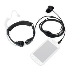 New 1pin 3.5mm PTT Earpiece Covert Air Tube Headset Throat Mic for Mobile Phone