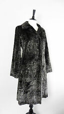 ❤ Size S Tyber Coat made in France Plush Faux Fur Grey