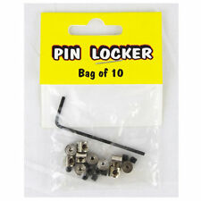 Biker pin saliva Locks ele prendedor fusible cierre hexagonal 10st.
