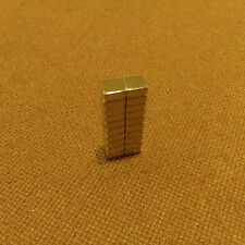 20 Neodymium 1/4 x 1/4 x 1/16 inches Block/Bar Magnet.