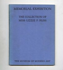 1931 MoMA Rare MEMORIAL EXHIBITION: THE LATE LILLIE P. BLISS COLLECTION catalog