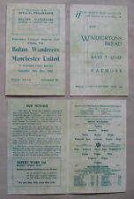 1945 F.A. League cup final (North) 1st leg programme Bolton v Manchester United.