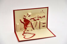 Handmade 3D Pop Up Love Tree Marriage Valentine's Anniversary Day Romantic Card