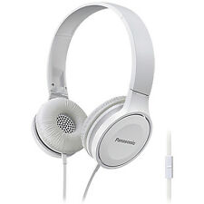 Panasonic Lightweight Outdoor On-Ear Mobile Phone Headphones RP-HF100 - White