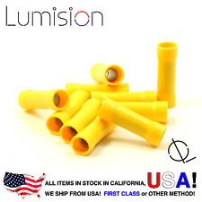 10 Pack 10-12AWG Yellow Gauge Butt Connector Terminal Wire Splice Connect RV Car