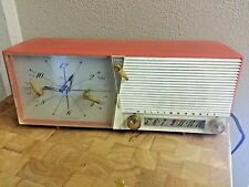 Westinghouse Model H-6445T6 Coral White Orange AM Clock Radio