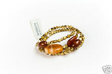 Liz Claiborne Goldtone Semi-Precious Accents Stretch Bracelet New