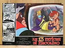 LE 13 FATICHE DI ERCOLINO fotobusta poster Saiyuki Animazione Rapimento Giappone