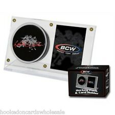 1 BCW Brand Acrylic Puck & and Hockey Card Storage Holder Display Case
