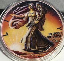 2016 Ounce Of Space Mars Walking Liberty US Silver Eagle Coin with Meteorite!