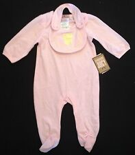 JUICY COUTURE ALL INONE & BIB PINK 3-6,6-9 *MONTHS RRP£57 NOW £28.50 EACH