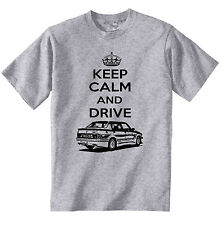 ALFA ROMEO 75 TURBO KEEP CALM P - NEW COTTON GREY TSHIRT - ALL SIZES IN STOCK