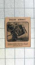 1915 Trooper Richard Annesbury Wonderful Feats With Motorbike And Sidecar