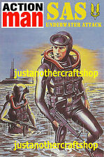 Action Man SAS Underwater Attack Large Size Poster Advert Sign Leaflet from 1983