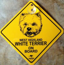 12cm Roadsign Schild + Saugnapf WEST HIGHLAND WHITE TERRIER warnschild hund