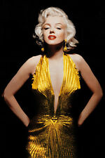 ACTRESS POSTER Marilyn Monroe Gold Dress