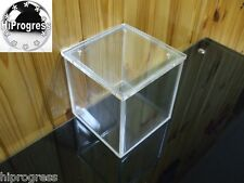 """Clear Acrylic 6"""" Cube Square Box With Lid Stand Display Container Holder 15 cm"""