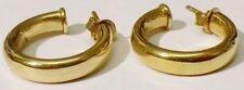 boucles d'oreilles percées rétro anneaux rond bijou vintage couleur or * 4860