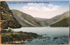 Irish Postcard UPPER LAKE GLENDALOUGH Wicklow Ireland Fergus O'Connor Eire Go Br