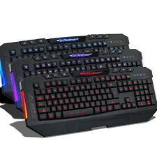LED Illuminated 3 Colors backlight Red/Blue/Purple Switchable Gaming Keyboard