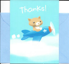 Kitty Cat In Airplane Thank You Note Cards - Blank - By Hallmark - Set of 10