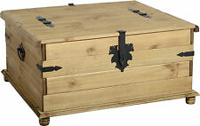 CORONA MEXICAN PINE DOUBLE STORAGE TRUNK COFFEE TABLE *FREE NEXT DAY DELIVERY