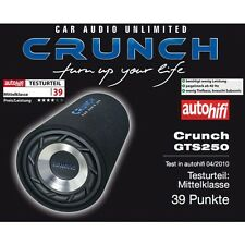 Crunch GTS-250 caisson de basses tube GTS250 250 Watt RMS 25 cm