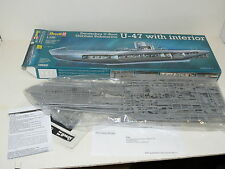 * REVELL DEUTSCHES U BOOT GERMAN SUBMARINE U-47 MODEL *