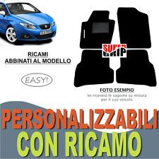 TAPPETI AUTO SU MISURA PER SEAT IBIZA (4) MOQUETTE E FONDO GOMMA + RICAMO EASY