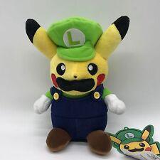 """Mario Pikachu Crossover Luigi Pikachu Plush Soft Toy Stuffed Animal 8.5"""""""