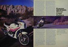 Krauser 1000 MKM1000 Motorcycle Test Article 1983