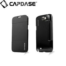 CAPDASE SAMSUNG Galaxy Note 2 GT-N7105 Sider Flip Folder Phone Case Jacket Black
