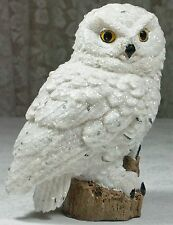 16cm Realistic White Snowy Owl w Glitter Figurine Poly Resin OWLRT NEW
