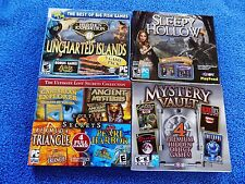 4X LOT NEW PC SLEEPY HOLLOW,Hidden Expedition,MYSTERY VAULT,LOST SECRETS,