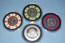 RARE VINTAGE 4 Cactus Pete's Jackpot Nevada Poker Chips