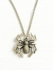 Vintage Spider Gothic 16mm Pagan Pendant Wiccan Halloween Chain Necklace